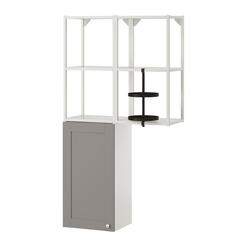 ENHET - 上牆式貯物架組合, white/grey frame | IKEA 香港及澳門 - PE773591_S4