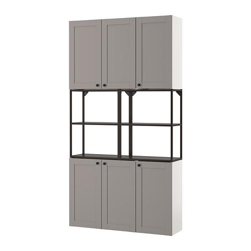 ENHET - 上牆式貯物架組合, anthracite/grey frame | IKEA 香港及澳門 - PE773593_S4