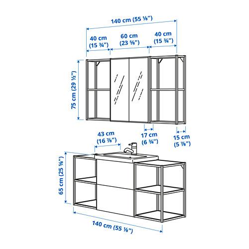 TVÄLLEN/ENHET - 浴室貯物組合 18件裝, oak effect/white Brogrund tap | IKEA 香港及澳門 - PE785366_S4