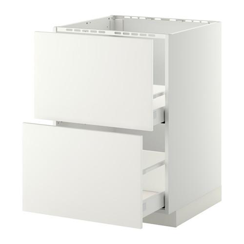 METOD 星盆用地櫃連2面板/2抽屜