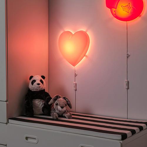 UPPLYST - LED壁燈, 心形 粉紅色 | IKEA 香港及澳門 - PE731050_S4
