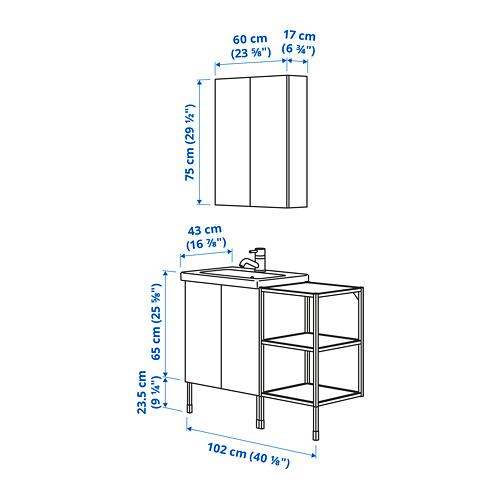 TVÄLLEN/ENHET - 浴室貯物組合 14件裝, 白色/炭黑色 PILKÅN水龍頭 | IKEA 香港及澳門 - PE785414_S4