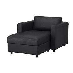 VIMLE - chaise longue, Grann/Bomstad black   IKEA Hong Kong and Macau - PE773759_S3