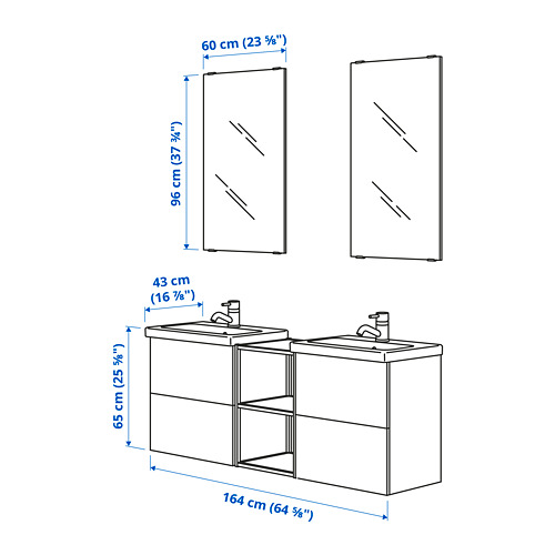 TVÄLLEN/ENHET - 浴室貯物組合 15件裝, 白色/炭黑色 PILKÅN水龍頭 | IKEA 香港及澳門 - PE785503_S4