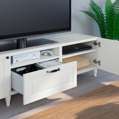 BESTÅ - TV bench, white/Smeviken/Kabbarp white | IKEA 香港及澳門 - PE785497_S4