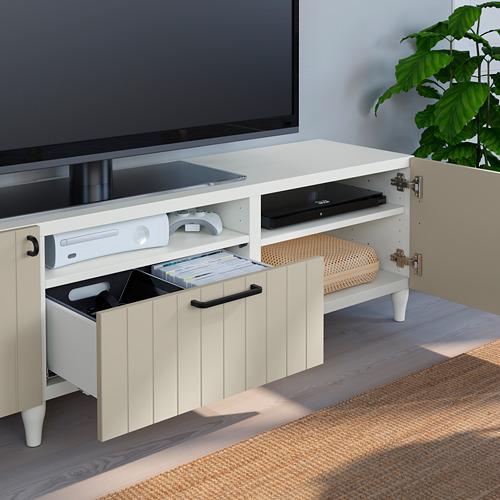 BESTÅ - TV bench, white/Sutterviken/Kabbarp grey-beige | IKEA 香港及澳門 - PE785499_S4