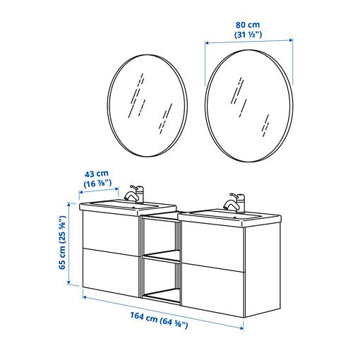 TVÄLLEN/ENHET - 浴室貯物組合 15件裝, 灰色 框架/炭黑色 PILKÅN水龍頭 | IKEA 香港及澳門 - PE785504_S4