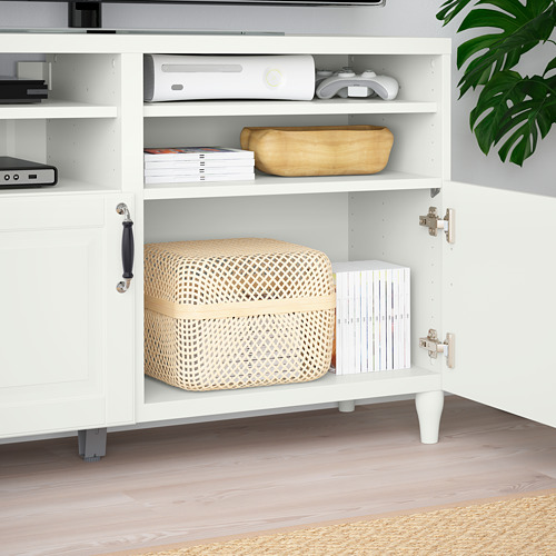 BESTÅ - TV bench with doors, white/Smeviken/Kabbarp white | IKEA Hong Kong and Macau - PE785507_S4