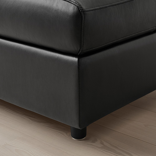 VIMLE - footstool with storage, Grann/Bomstad black | IKEA Hong Kong and Macau - PE773783_S4