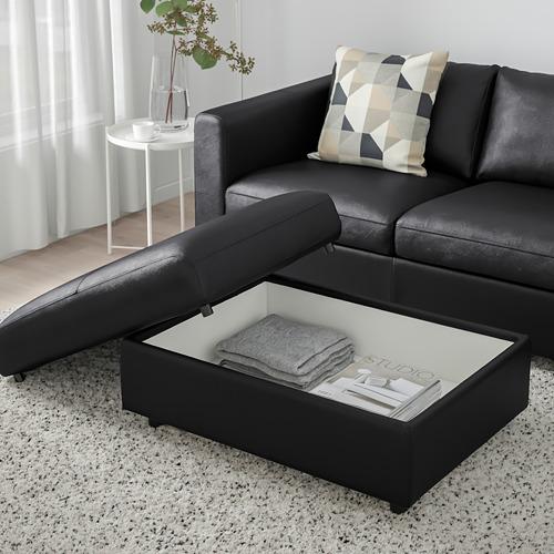 VIMLE - footstool with storage, Grann/Bomstad black | IKEA Hong Kong and Macau - PE773785_S4