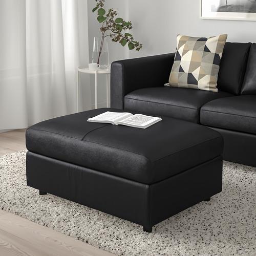 VIMLE - footstool with storage, Grann/Bomstad black | IKEA Hong Kong and Macau - PE773786_S4