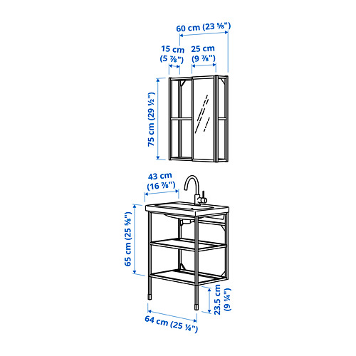 TVÄLLEN/ENHET - 浴室貯物組合 9件裝, white/Glypen tap | IKEA 香港及澳門 - PE785560_S4
