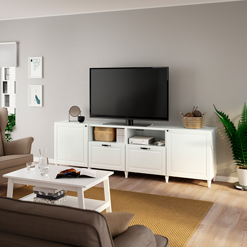 BESTÅ TV bench with doors and drawers