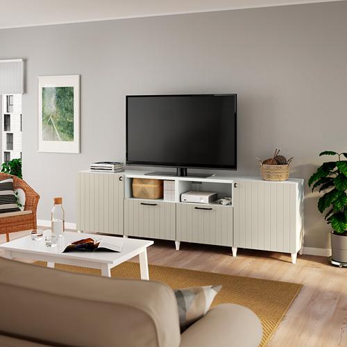 BESTÅ - 電視几連門及抽屜, 白色/Sutterviken/Kabbarp 灰米黃色   IKEA 香港及澳門 - PE785571_S4