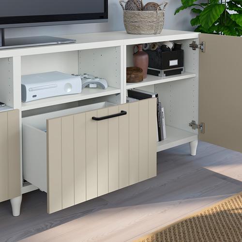 BESTÅ - 電視几連門及抽屜, 白色/Sutterviken/Kabbarp 灰米黃色   IKEA 香港及澳門 - PE785570_S4