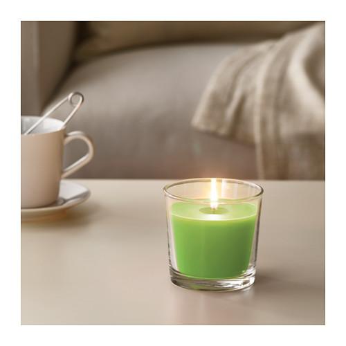 SINNLIG - 杯裝香味蠟燭, 蘋果及梨/綠色 | IKEA 香港及澳門 - PE640596_S4