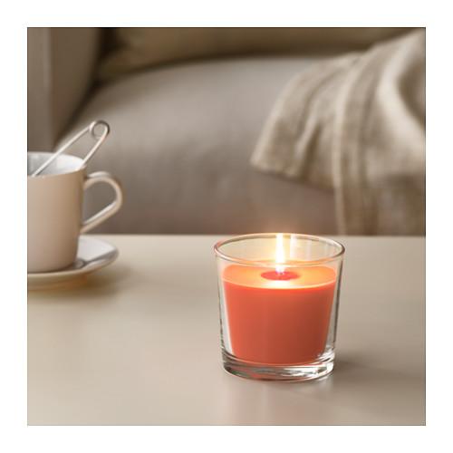 SINNLIG - 杯裝香味蠟燭, 桃及橙/橙色 | IKEA 香港及澳門 - PE640598_S4