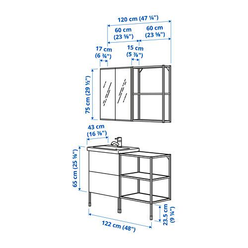 TVÄLLEN/ENHET - 浴室貯物組合 15件裝, 白色/炭黑色 PILKÅN水龍頭 | IKEA 香港及澳門 - PE785718_S4
