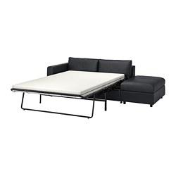 VIMLE - 3-seat sofa-bed, with open end/Grann/Bomstad black | IKEA Hong Kong and Macau - PE773997_S3