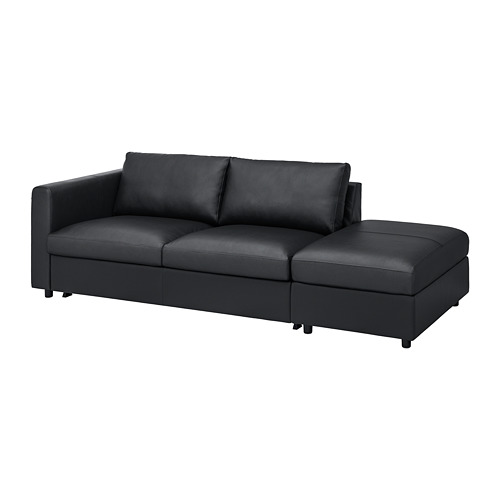 VIMLE - 3-seat sofa-bed, with open end/Grann/Bomstad black | IKEA Hong Kong and Macau - PE773996_S4
