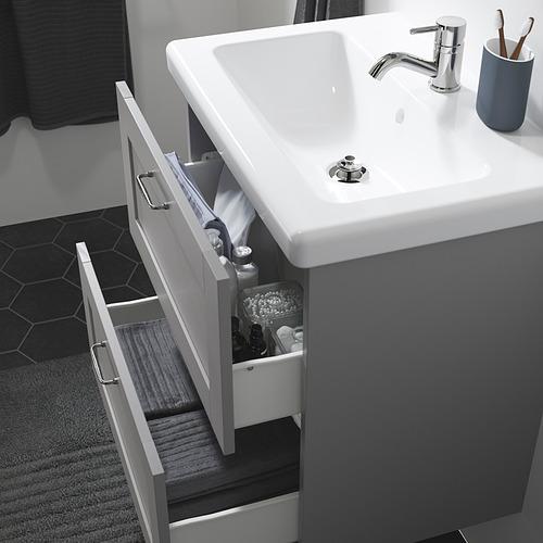 TVÄLLEN/ENHET - 雙抽屜洗手盆櫃, grey frame/grey Lillsvan tap | IKEA 香港及澳門 - PE830794_S4