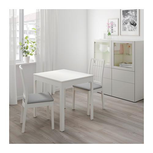 EKEDALEN/EKEDALEN - table and 2 chairs, white/Orrsta light grey | IKEA Hong Kong and Macau - PE640676_S4