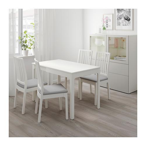EKEDALEN/EKEDALEN - table and 2 chairs, white/Orrsta light grey | IKEA Hong Kong and Macau - PE640677_S4