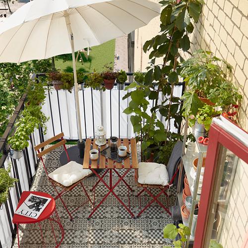TÄRNÖ - 戶外餐檯椅組合, 紅色/染淺褐色 | IKEA 香港及澳門 - PH168428_S4