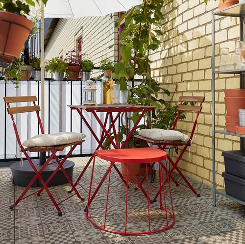 TÄRNÖ - 戶外餐檯椅組合, 紅色/染淺褐色 | IKEA 香港及澳門 - PH168431_S4