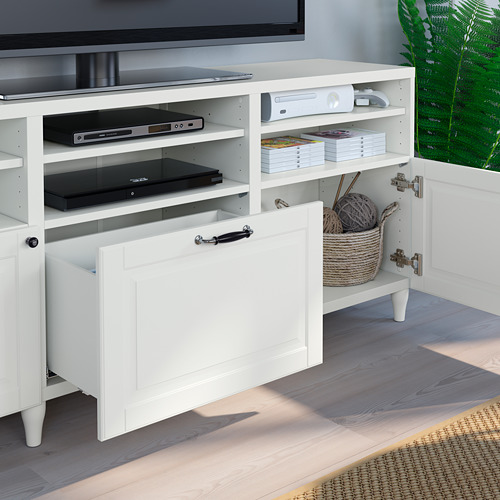 BESTÅ - TV storage combination/glass doors, white Smeviken/Ostvik white clear glass | IKEA Hong Kong and Macau - PE785759_S4