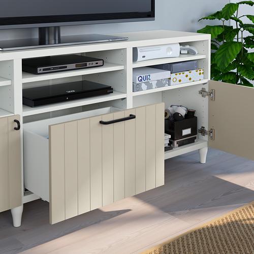 BESTÅ - 電視貯物組合/玻璃門, white Sutterviken/Kabbarp/grey-beige clear glass | IKEA 香港及澳門 - PE785757_S4
