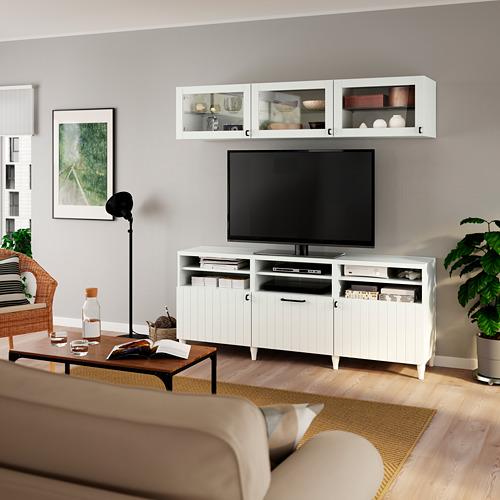 BESTÅ - 電視貯物組合/玻璃門, white/Sutterviken/Kabbarp white clear glass | IKEA 香港及澳門 - PE785761_S4