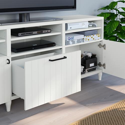 BESTÅ - 電視貯物組合/玻璃門, white/Sutterviken/Kabbarp white clear glass | IKEA 香港及澳門 - PE785760_S4