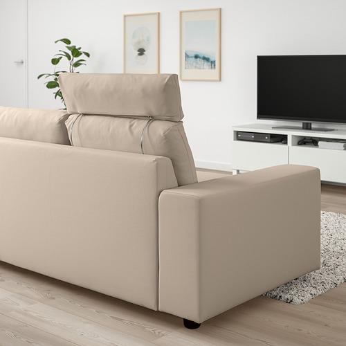 VIMLE - 三座位梳化, with headrest with wide armrests/Hallarp beige   IKEA 香港及澳門 - PE830826_S4