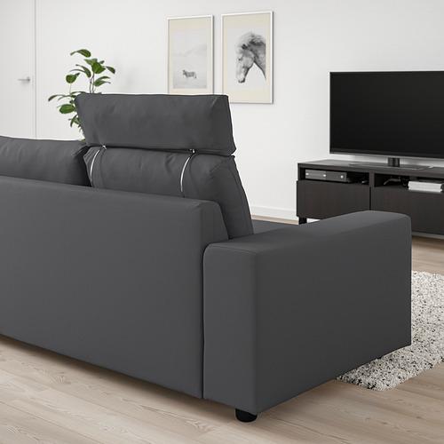 VIMLE - 三座位梳化, 連頭枕 有寬闊扶手/Hallarp 灰色 | IKEA 香港及澳門 - PE830825_S4