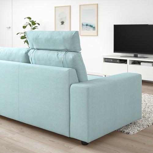 VIMLE - 三座位梳化, with headrest with wide armrests/Saxemara light blue   IKEA 香港及澳門 - PE830827_S4