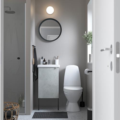 TVÄLLEN/ENHET - wash-basin cabinet with 1 door, concrete effect/grey Pilkån tap | IKEA Hong Kong and Macau - PE785812_S4