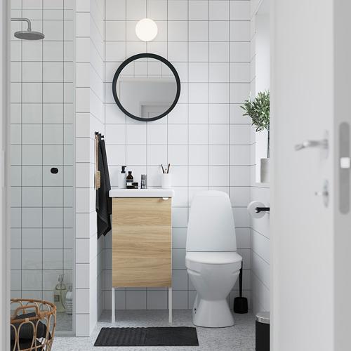 TVÄLLEN/ENHET - 單門洗手盆櫃, oak effect/white Pilkån tap   IKEA 香港及澳門 - PE785803_S4