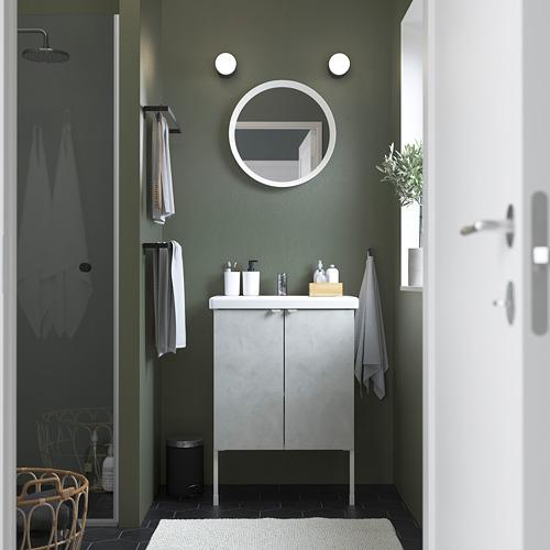 TVÄLLEN/ENHET - wash-basin cabinet with 2 doors, concrete effect/white Pilkån tap   IKEA Hong Kong and Macau - PE785820_S4