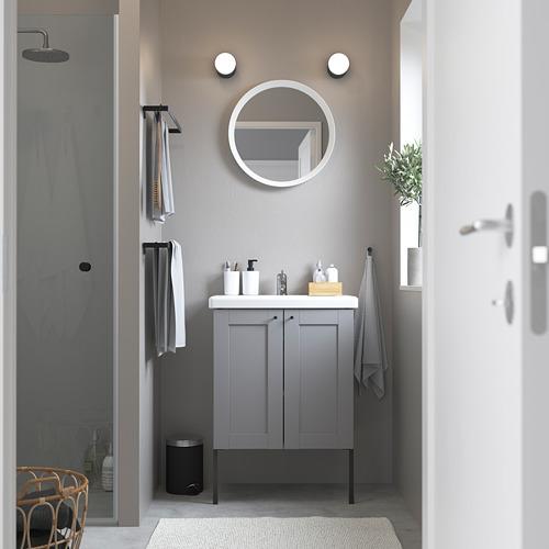TVÄLLEN/ENHET - 雙門洗手盆櫃, grey frame/grey Lillsvan tap | IKEA 香港及澳門 - PE785821_S4