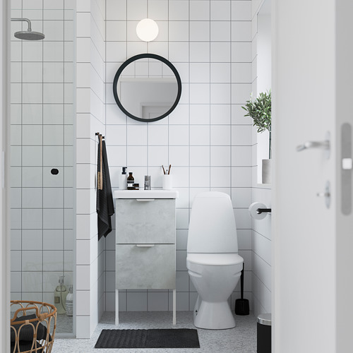 TVÄLLEN/ENHET - wash-stand with 2 drawers, concrete effect/white Pilkån tap   IKEA Hong Kong and Macau - PE785776_S4