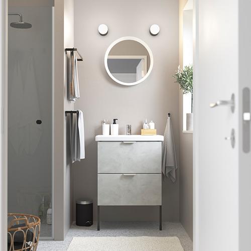 TVÄLLEN/ENHET - 雙抽屜洗手盆櫃, concrete effect/grey Pilkån tap   IKEA 香港及澳門 - PE785779_S4