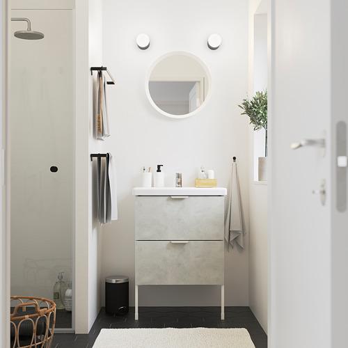 TVÄLLEN/ENHET - 雙抽屜洗手盆櫃, concrete effect/white Pilkån tap | IKEA 香港及澳門 - PE785780_S4