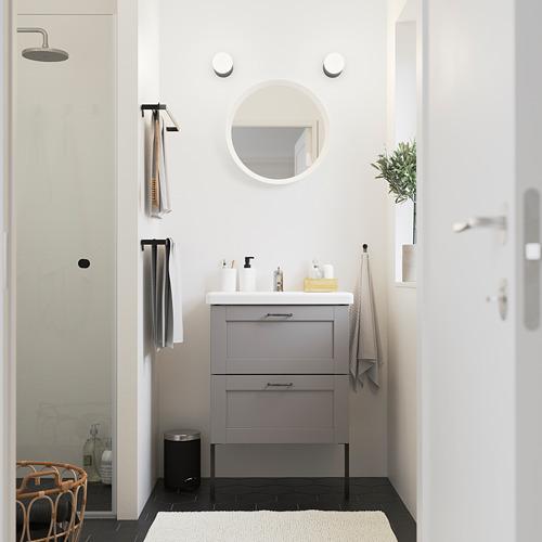 TVÄLLEN/ENHET - 雙抽屜洗手盆櫃, grey frame/grey Lillsvan tap | IKEA 香港及澳門 - PE785781_S4