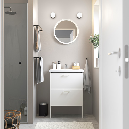TVÄLLEN/ENHET - 雙抽屜洗手盆櫃, white/Pilkån tap   IKEA 香港及澳門 - PE785784_S4