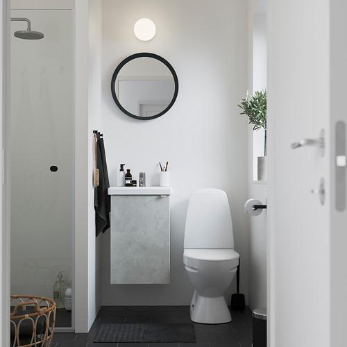 TVÄLLEN/ENHET - wash-basin cabinet with 1 door, concrete effect/white Pilkån tap | IKEA Hong Kong and Macau - PE785872_S4