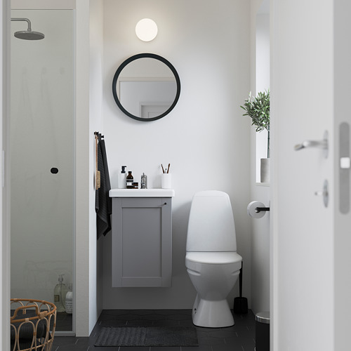 TVÄLLEN/ENHET - 單門洗手盆櫃, grey frame/grey Lillsvan tap | IKEA 香港及澳門 - PE785873_S4