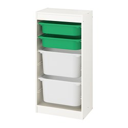 TROFAST - storage combination with boxes, white/green white | IKEA Hong Kong and Macau - PE774067_S3