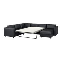 VIMLE - corner sofa-bed, 5-seat, with chaise longue/Grann/Bomstad black   IKEA Hong Kong and Macau - PE776081_S3
