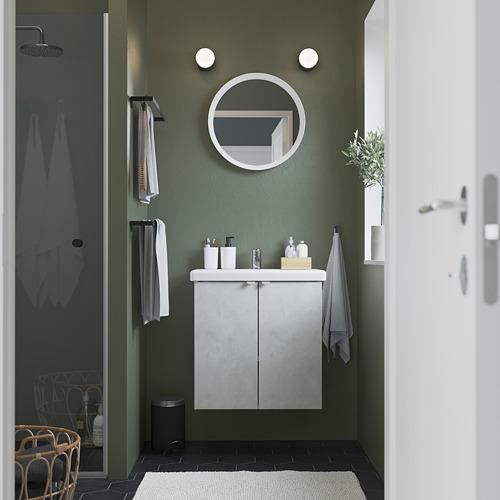 TVÄLLEN/ENHET - 雙門洗手盆櫃, 仿混凝土/白色 PILKÅN水龍頭   IKEA 香港及澳門 - PE785830_S4
